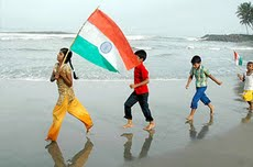 youth with flag
