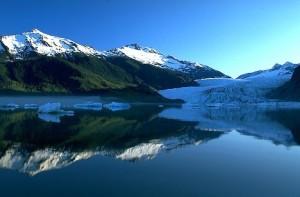 Icebergs Reflected in Juneau area lake